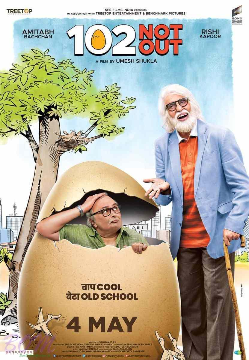 New Hindi Movei 2018 2019 Bolliwood: 102 Not Out Movie Eggy Poster