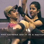 Behind the scenes from Dhoom:3 – Aamir Khan & Katrina Kaif Turn Acrobats