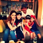 Hrithik Roshan Suzzane Khan and Boys