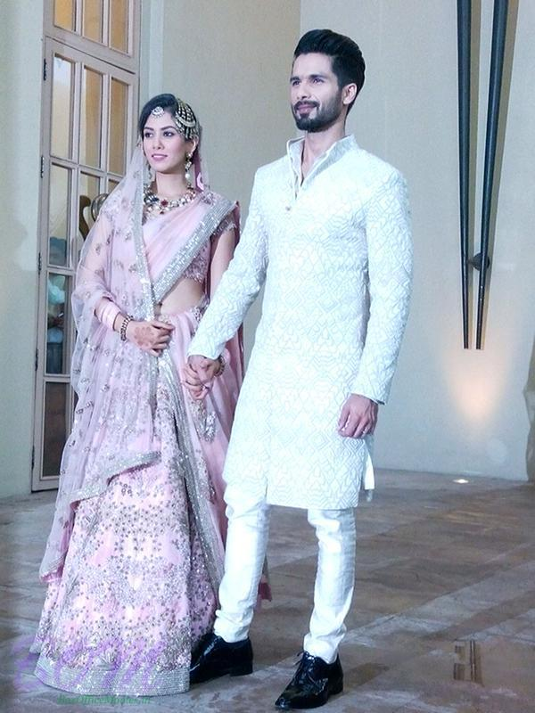 A charming picture of newly wedded Shahid Kapoor with wife Mira Rajput