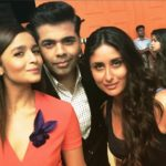 Cute picture of Alia Bhatt and Kareena Kapoor with Karan Johar