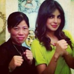A cute picture of Priyanka Chopra with real Mary Kom