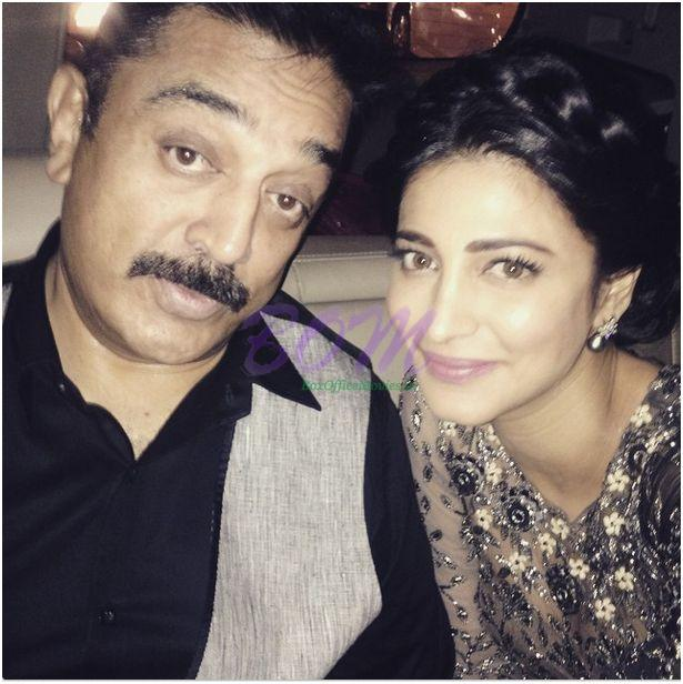 A cute picture of Shruti Haasan with Kamal Haasan