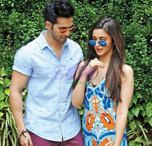 A cute picture of Varun Dhawan with Alia Bhatt - they are looking made for each other in this picture