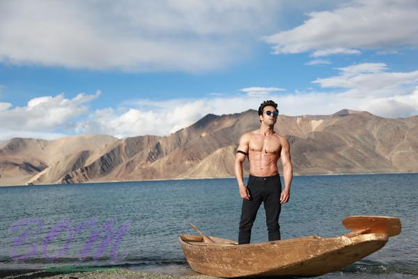 A dashing picture of Pulkit Samrat during shooting of Sanam Re movie