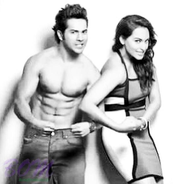 A funny picture of Varun Dhawan and Sonakshi Sinha
