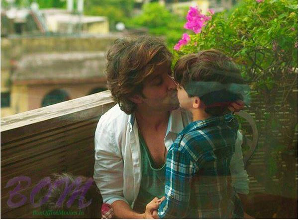 A lovely moment of Hrithik Roshan kissing his son