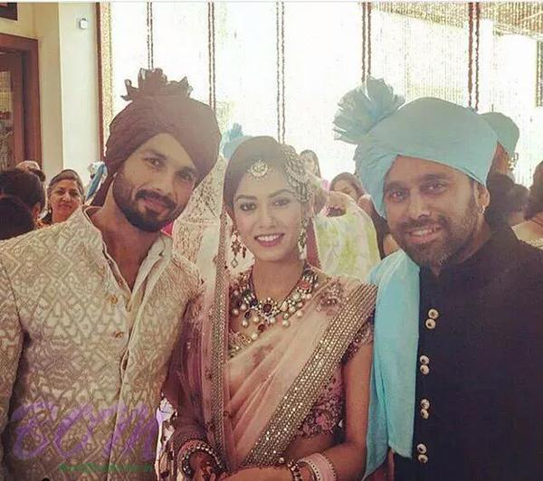 A lovely picture of Shahid Kapoor with wife Mira Rajput
