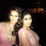 A lovely picture of Shriya Saran and Sania Mirza