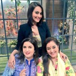 A lovely picture of Sonakshi Sinha with month and Farah khan