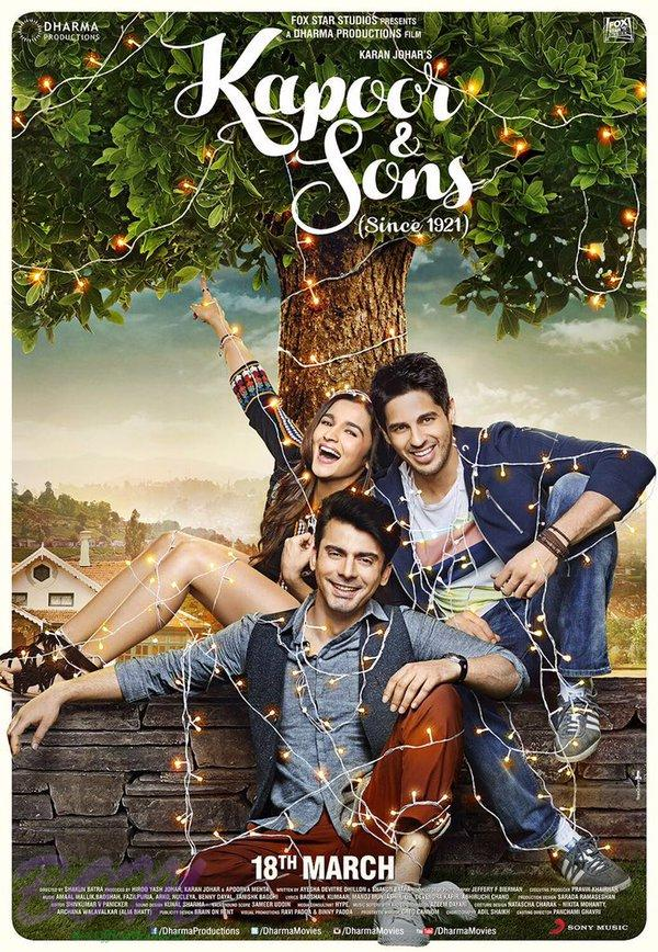 A lovely poster of Kapoor And Sons - on 3Feb2016