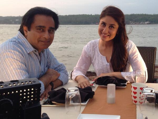 A picture of Kareena Kapoor Khan in Goa when shooting for a BBC documentary with British comedian and actor Sanjeev Bhaskar.