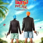 A poster of movie on famous jokes characters Santa Banta Pvt. Ltd.