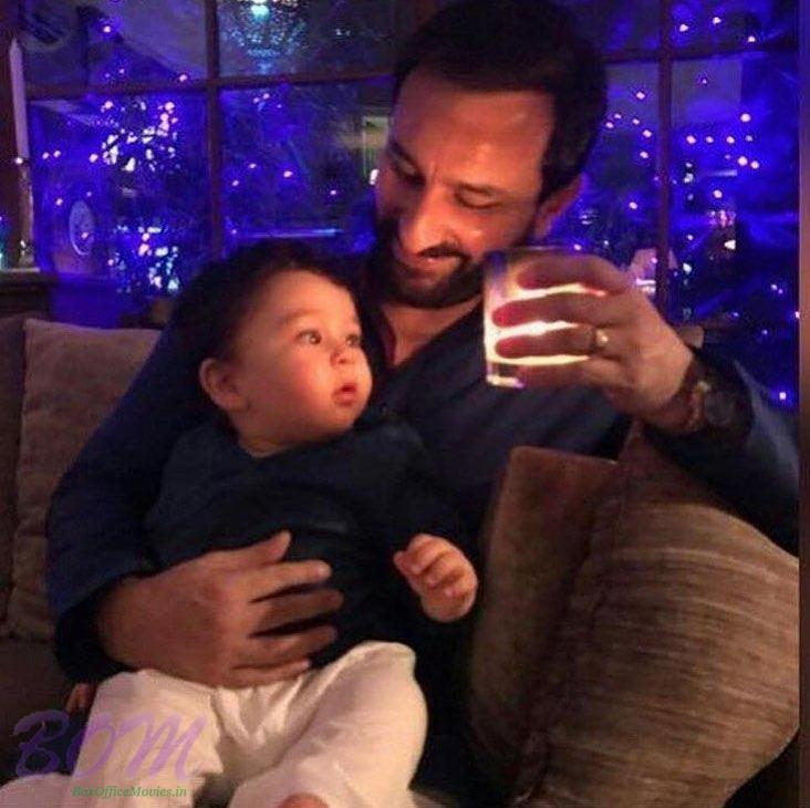 A priceless pic of Saif Ali Khan with baby Taimur Ali Khan
