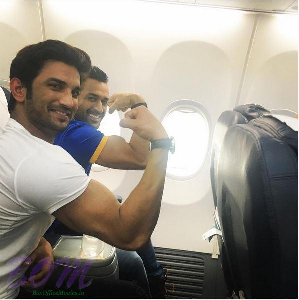 A quirky pic of Sushant Singh Rajput with Mahendra Singh Dhoni