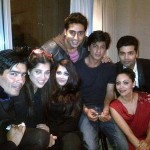 A really cute get together - Shahrukh Khan with wife Gauri, Abhishek Bachchan with wife aishwarya raiy, Karan Johar, and others