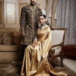 A regal look of Ranveer Singh and Deepika Padukone at their Bengaluru reception after marriage