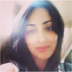 A selfie of Yami Gautam - Just on the day way to shoot for 'Action Jackson' movie