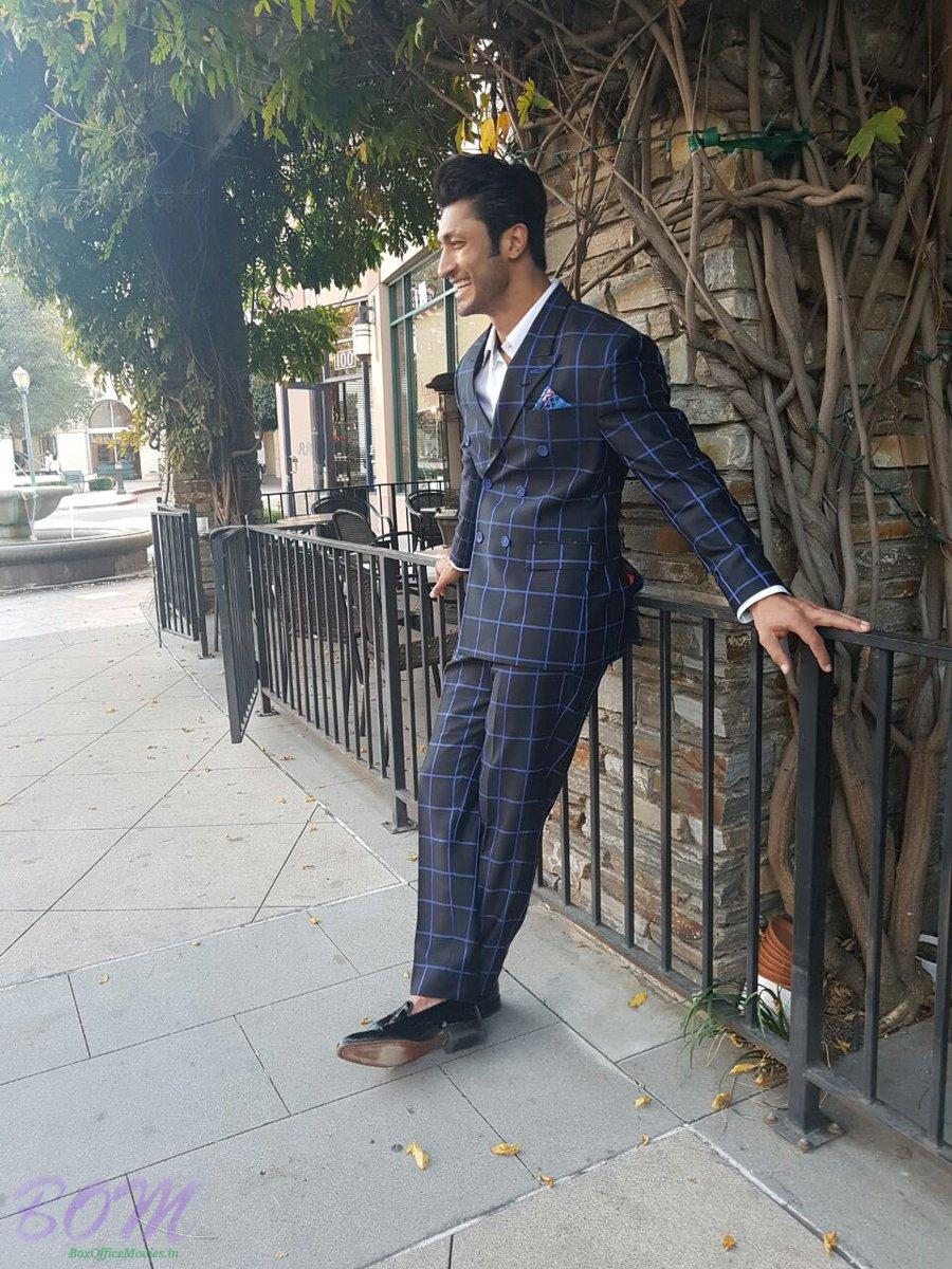 A suited booted picture of Vidyut Jamwal from Los Angeles