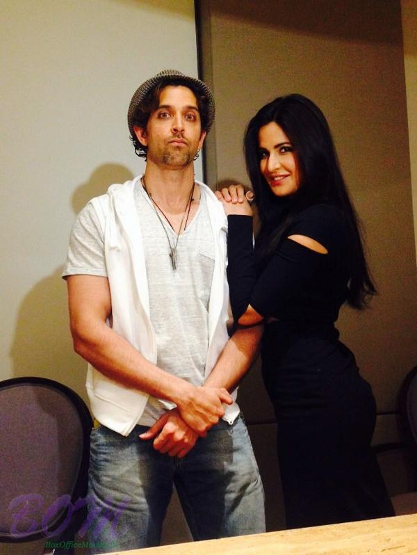 A weird Hrithik Roshan with hot Katrina Kaif