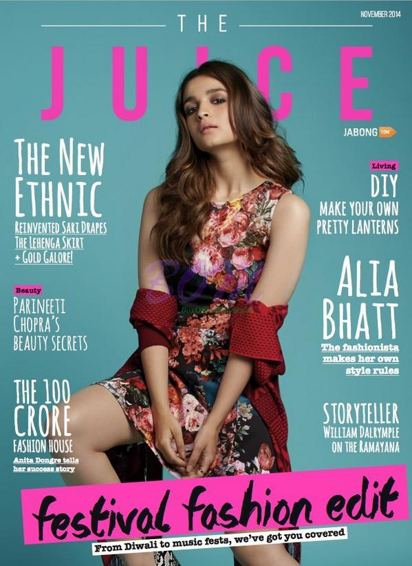 ALIA BHATT for JABONG The Juice Magazine Cover Page