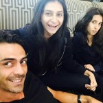 Actor Arjun Rampal snapped with daughters Mahika and Myra