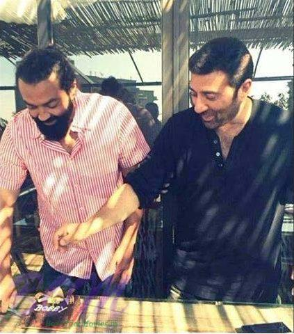 Actor Bobby Deol celebrating his brithday with borther Sunny Deol