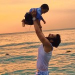 Actor Jackky Bhagnani with his Nephew