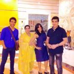 Recently actor Jeetendra, Producer Ekta Kapoor, Hero Tusshar Kapoor and Family lady Shobha Kapoor were present in Dubai Masala Awards 2014.