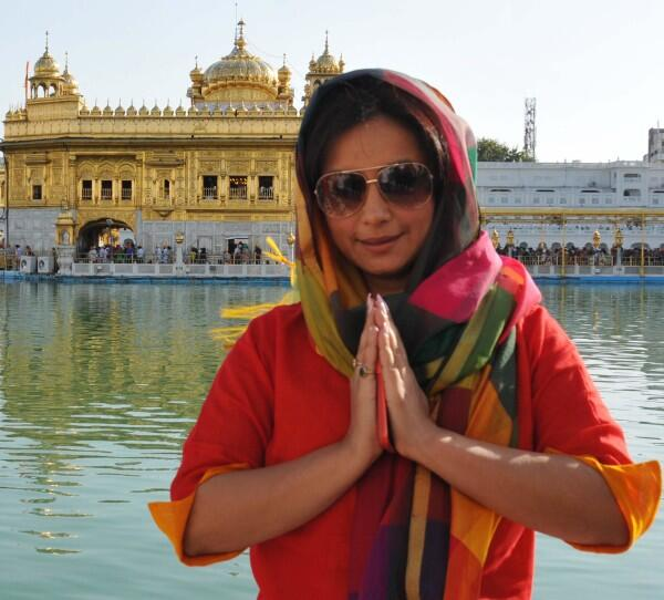 Actress Divya Dutta pays obeisance at the Golden Temple in Amritsar