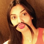 Actress Sara Loren moustache selfie