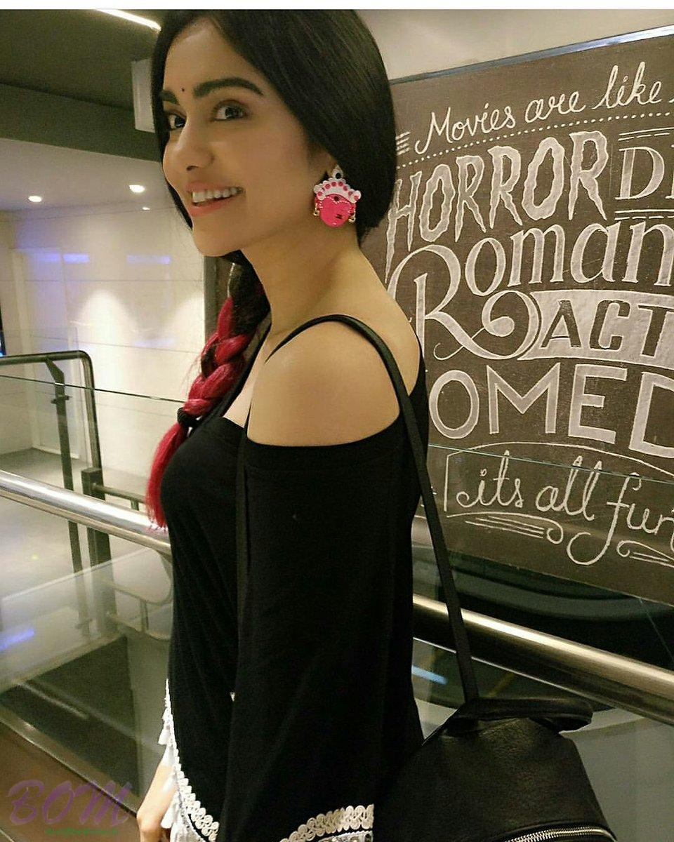 Adah Sharma looks lovely in this black Off Shoulder dress