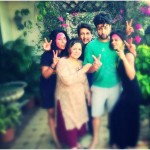 Adhyayan Suman Holi 2015 with Family members and Sara Loren