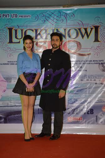 Adhyayan Suman and Karishma at the first look launch of Lucknowi Ishq movie