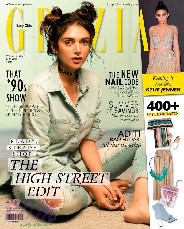 Aditi Rao Hydari ‏Grazia Cover Page Girl for June 2016 Issue