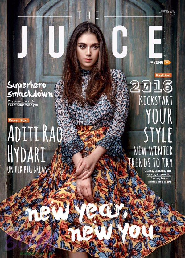 Aditi Rao Hydari ‏cover page girl for JUICE magazine Jan 2016 issue