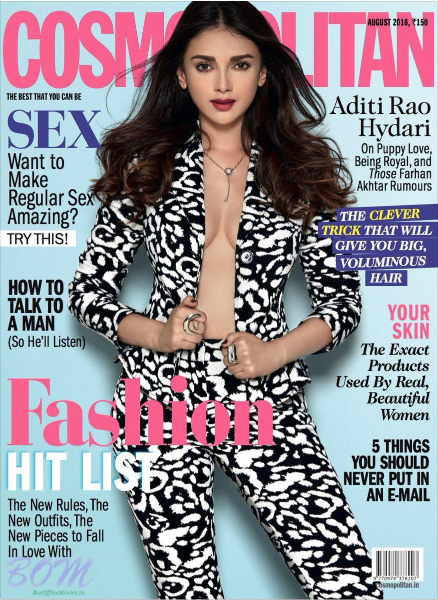 Aditi Rao Hydari cover girl for COSMPOLITAN India Autgust 2016 issue