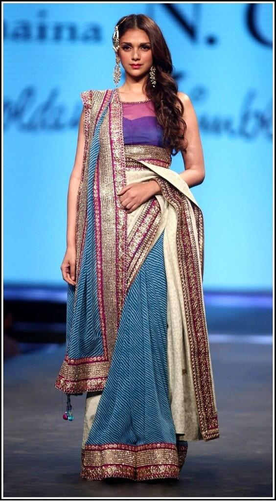 Aditi Rao Hydari dressed for another era for a charity show for CPAA by Shaina NC caring with style - event Fashion 4 Cancer Aid