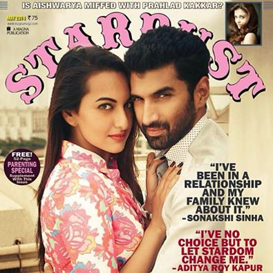 Aditya Roy Kapur and Sonakshi Sinha in Stardust May 2014 cover page