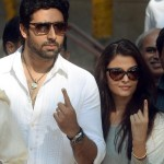 Aishwarya Rai and Abhishek Bachchan Voting Picture