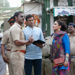 Ajay Devgn and Kareena on the sets of Singham Returns!