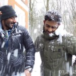 Ajay Devgn enjoying snowfall while shooting for Shivaay movie