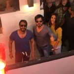 Ajay Devgn with Emraan Hashmi and Esha Gupta after Baadshaho movie first day schedule wrap