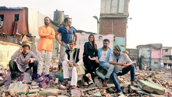 Ajaz Khan while shooting for Jhol Company Public Limited movie