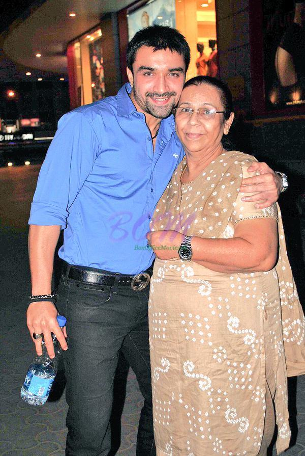 Ajaz Khan with his Mother