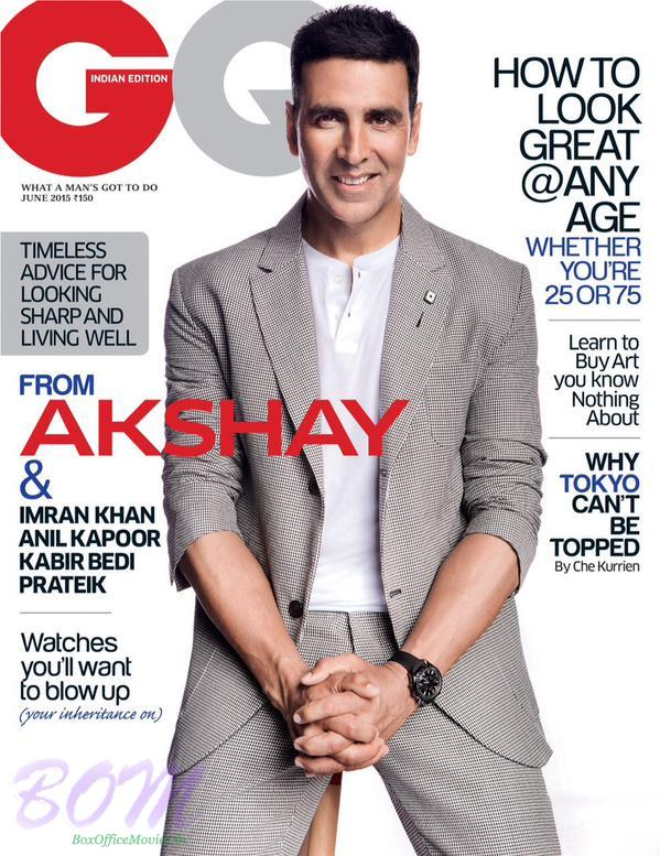 Akshay Kumar as the Cover Boy for Go Indian Magazine June 2015 Issue