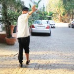 Akshay Kumar at his residence compound