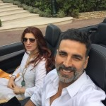 Akshay Kumar holiday selfie with Twinkle Khanna from Antibes