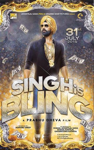 Akshay Kumar starrer Singh is Bling look with release date on 31 July 2015