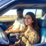 Akshay Kumar and Nimrat Kaur in Jaisalmer for the Airlift movie